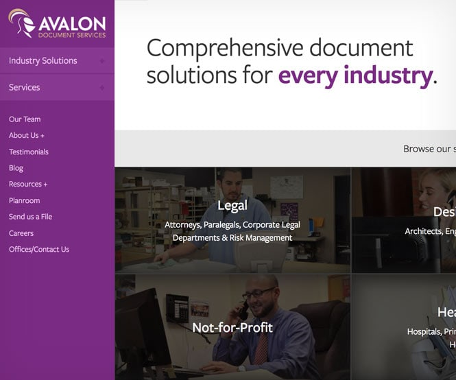 Avalon homepage