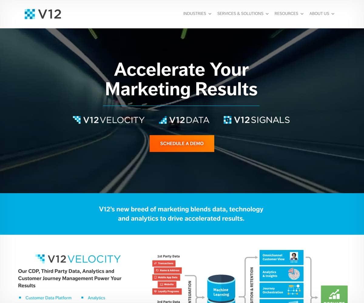 v12 home page