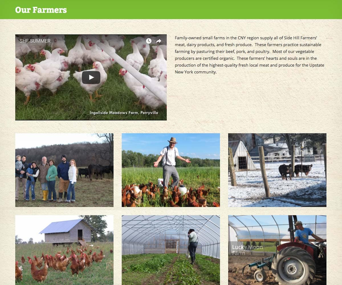 Side Hill Farmers farmers page