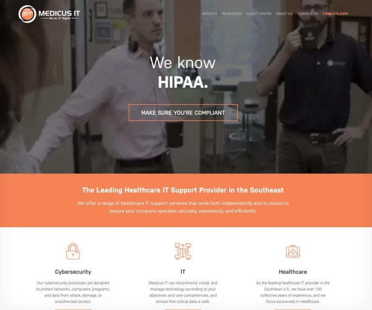 Medicus IT homepage