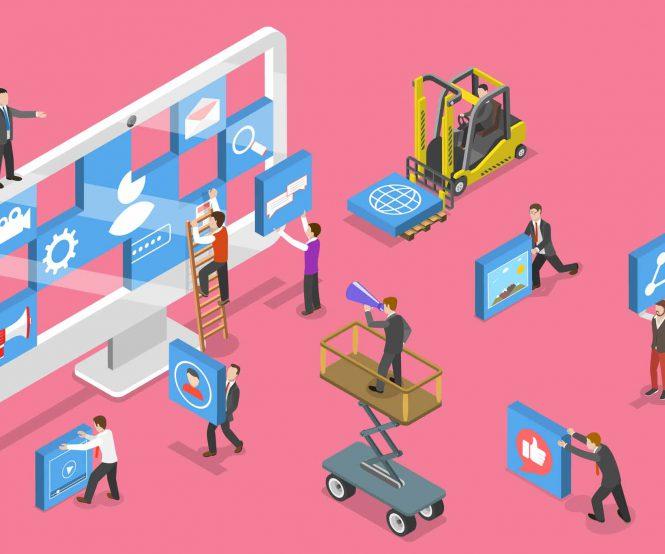 illustration of website builders